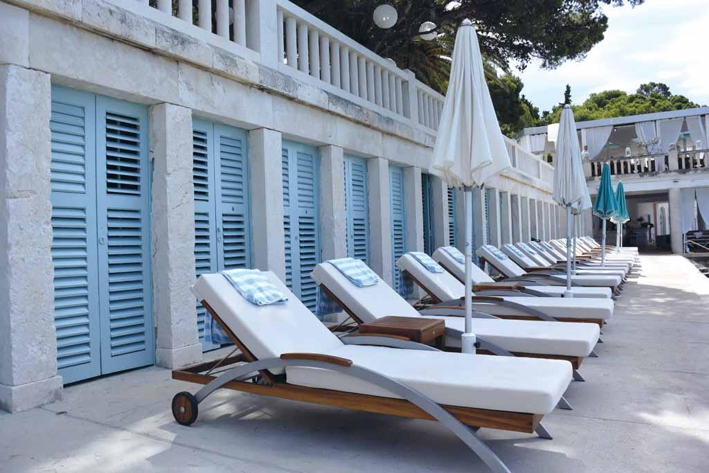 Bonj Les Bains Beach Club in Hvar